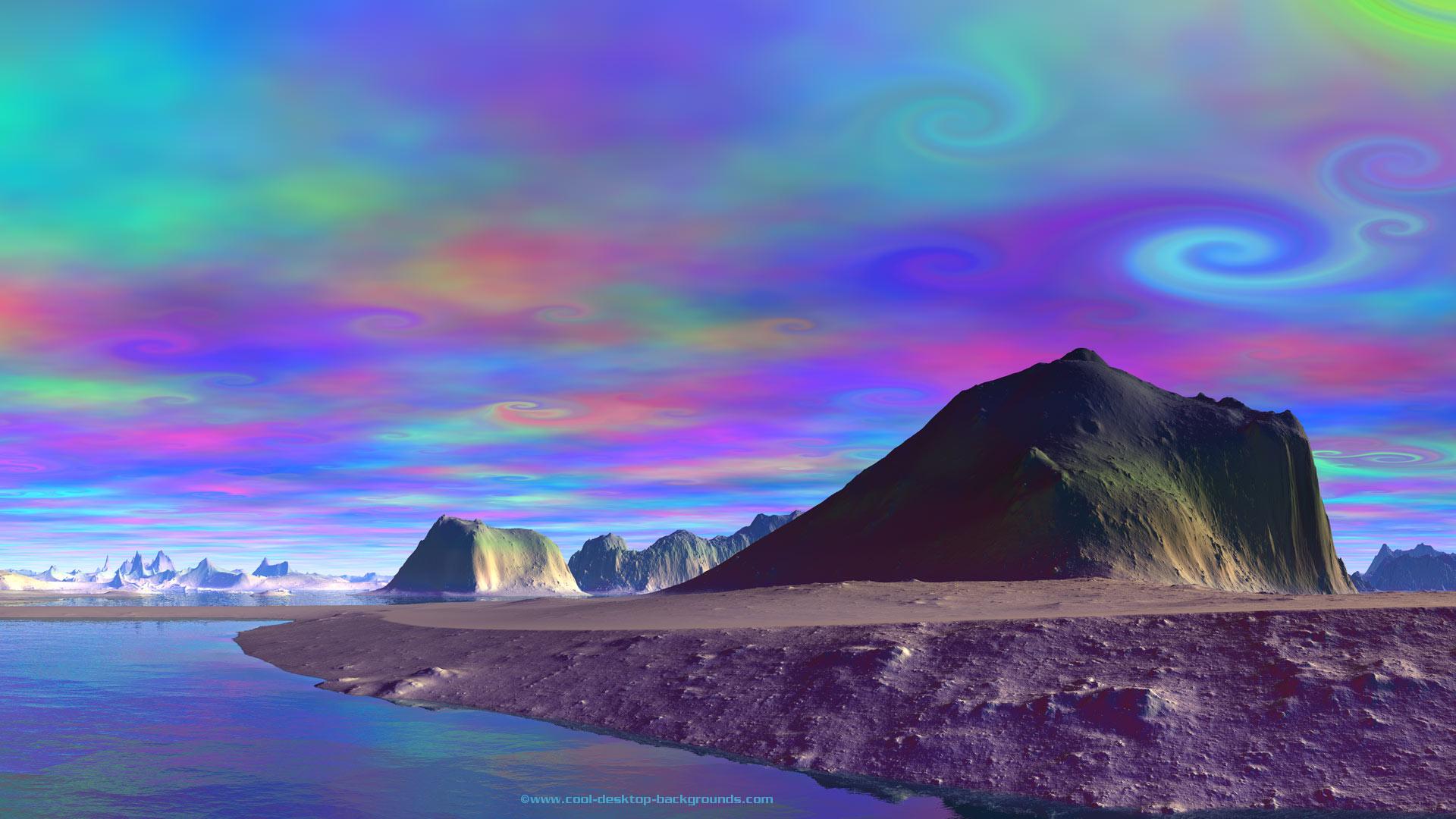 desert psychedelic sky